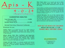 Apis-K 4-0-24 (for Cotton & Soybeans)