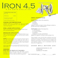 IRON 4.5 (4.5% LIQUID Fe HEDTA)